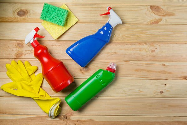 green household cleaning products